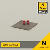 200 ltr barrel set